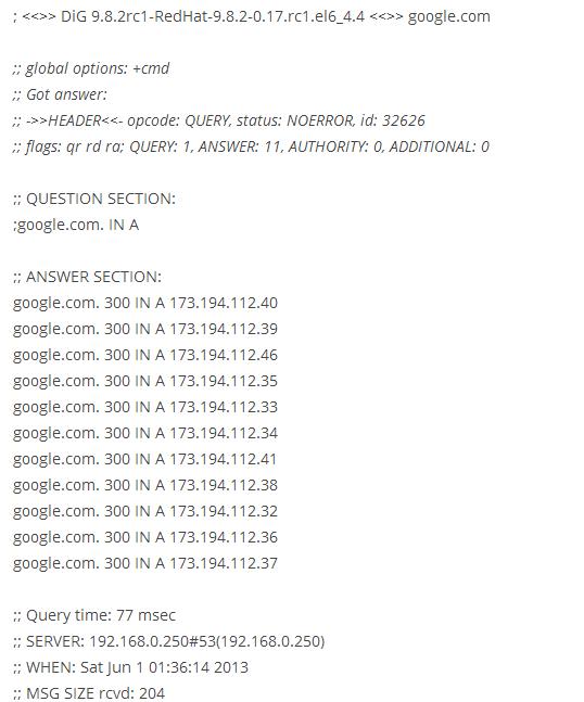 Установка Dig в CentOS