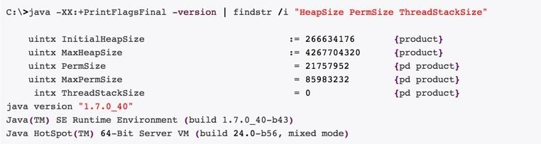 Узнать размер Java Heap Memory Size в windows