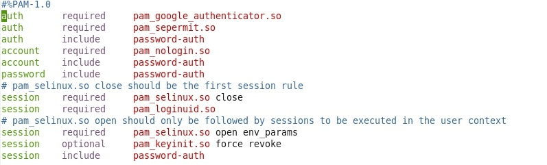 required pam_google_authenticator