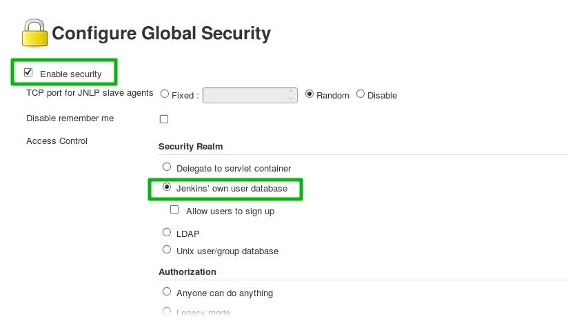 Настройка Global Security в дженкинс