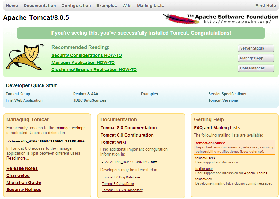 apache-tomcat 8.0.5
