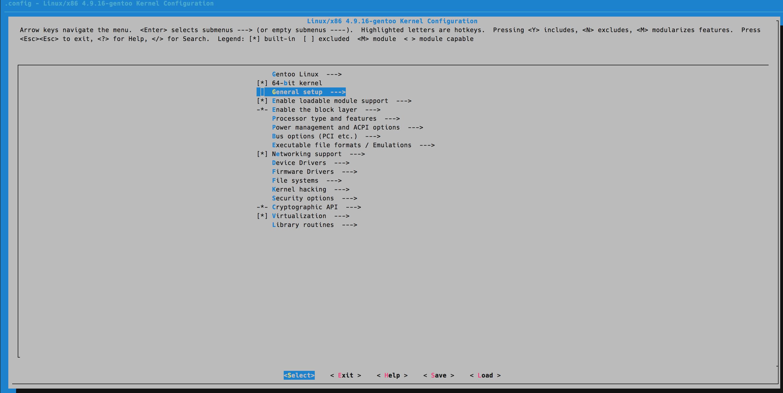 Настройка ядра в Gentoo Linux
