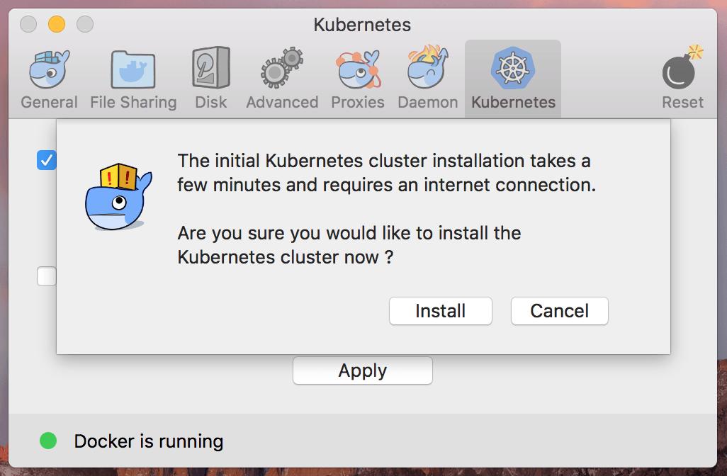 Установка Kubernetes в Mac OS X