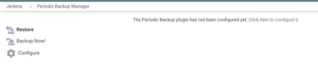 Меню Periodic Backup plugin
