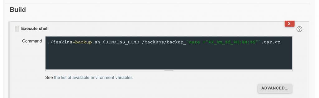 Настройка запуска скрипта с параметрами через Build-execute shell