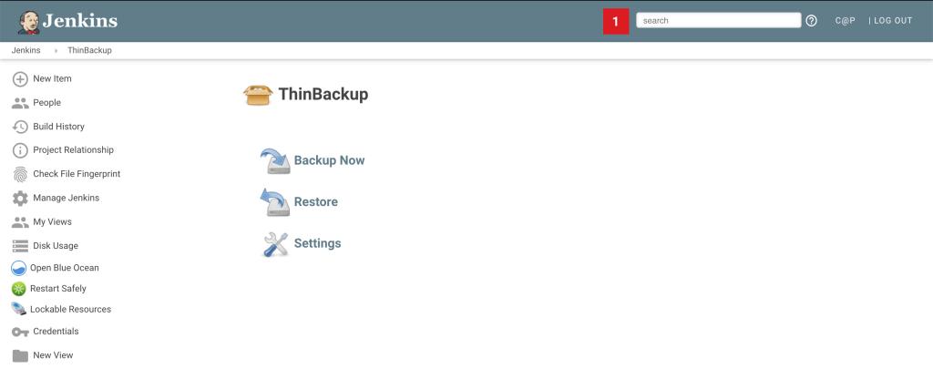 Плагин ThinBackup для Jenkins-а