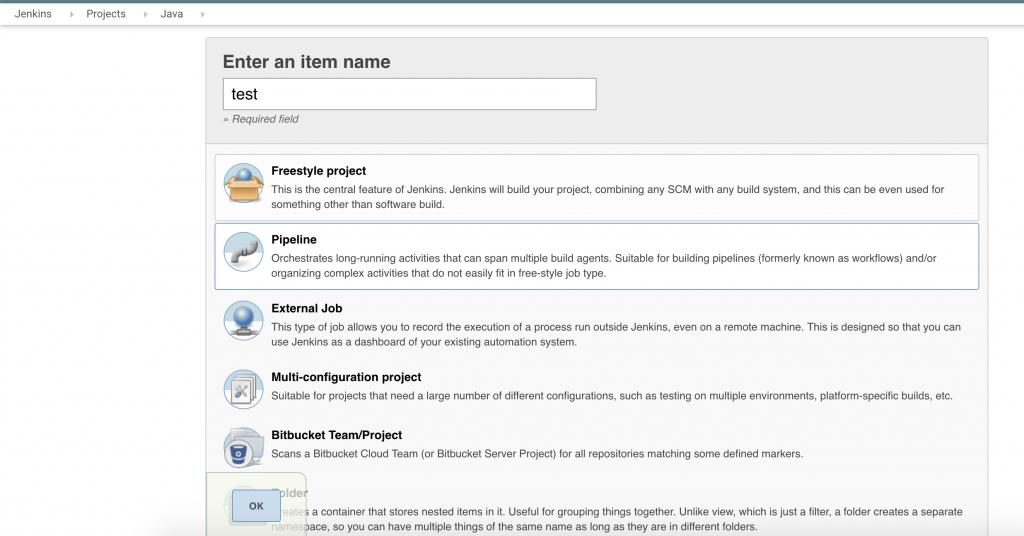 Тестовый pipeline projec для Java